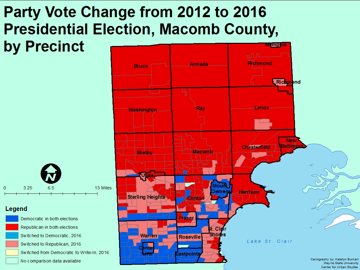 Analyzing The Report On Macomb County In The Age Of Trump East - Us election results map change by age